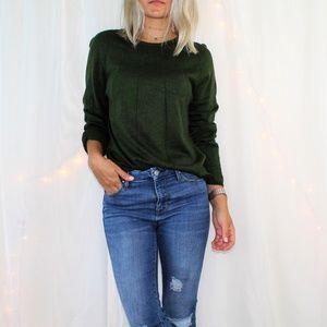 Vintage Carlisle Green Silk & Cashmere Sweater